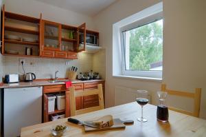 A kitchen or kitchenette at Apartment Marketa