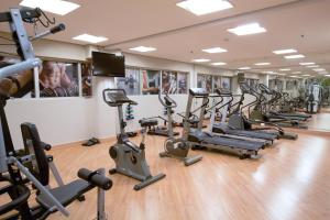 The fitness center and/or fitness facilities at Bristol International Airport Hotel
