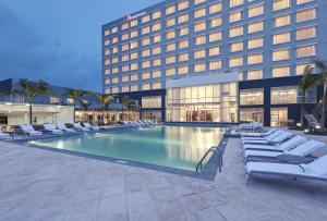 The swimming pool at or near Guyana Marriott Hotel Georgetown