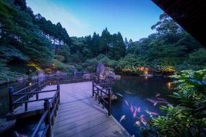 아키즈키 온천료칸 세이큐안 내부 또는 인근 수영장