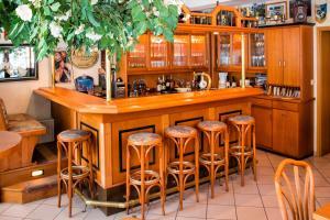 Lounge oder Bar in der Unterkunft Hotel-Pension Hafemann