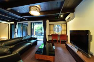 A seating area at Takeya Kitano Honkan