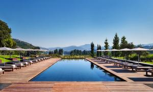 The swimming pool at or near Six Senses Douro Valley