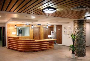 The lobby or reception area at Résidence Prestige Odalys La Cascade - Les Epinettes