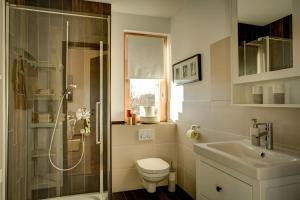 Ein Badezimmer in der Unterkunft Ferienwohnung Dormettinger Lindenhof