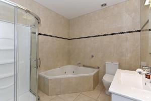 A bathroom at Aoraki Court Motel