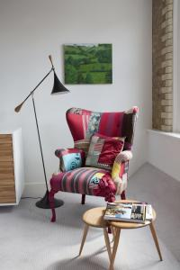 A seating area at Boundary London