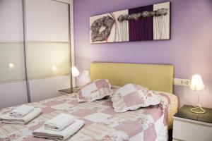 Cama o camas de una habitación en Apartamento Valencia Center II