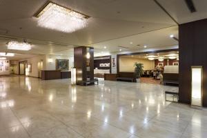 The lobby or reception area at Akita Hotel