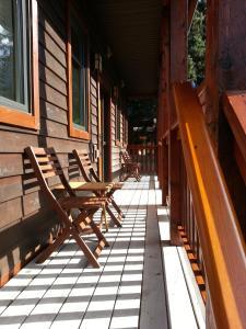 A balcony or terrace at Banff Bear Bed & Breakfast
