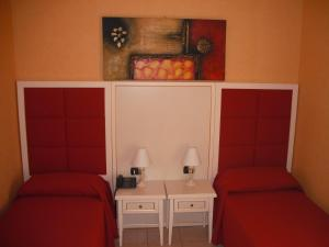 A seating area at Hotel Cortese