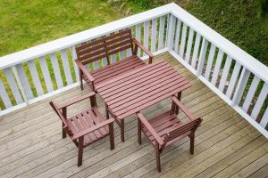 A balcony or terrace at Abateg Self Catering