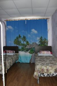 Кровать или кровати в номере Мини Отель на Чкалова