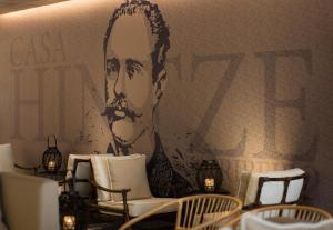 A seating area at Hotel Casa Hintze Ribeiro
