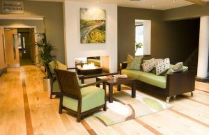 A seating area at Hotel Doolin