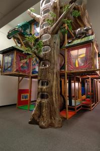 Children's play area at Douglas Fir Resort & Chalets