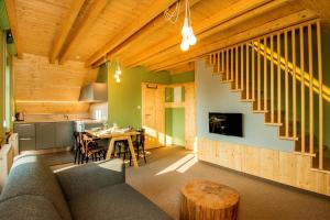 Posezení v ubytování Apartment Loucky
