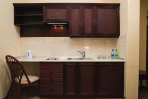Кухня или мини-кухня в Pensjonat Lorien