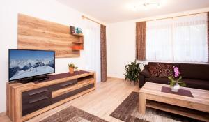 A television and/or entertainment centre at Alp Chalet Appartement