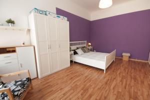 Ein Etagenbett oder Etagenbetten in einem Zimmer der Unterkunft City Center Apartments