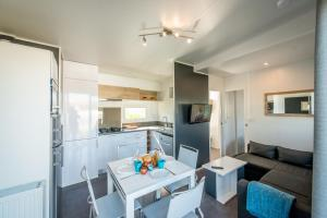 Dining area at the resort village