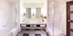 A bathroom at Radisson Blu Hotel Paris, Marne-la-Vallée