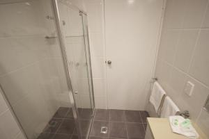 A bathroom at Albury Paddlesteamer Motel