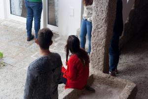 Children staying at Casa do Poço