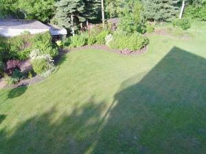 Blick auf Gästehaus am Lausitzring aus der Vogelperspektive