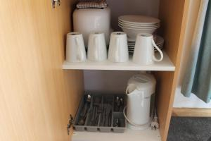 Coffee and tea-making facilities at Mountain View Motel