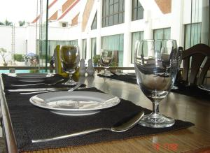 A restaurant or other place to eat at Rimpao Hotel