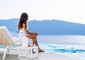 Clients de l'établissement Katikies Santorini - The Leading Hotels Of The World