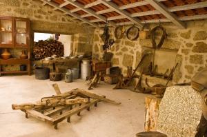 Coin salon dans l'établissement Solar dos Caldeira e Bourbon