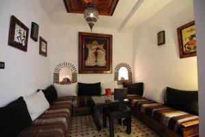 A seating area at Riad Bab Essaouira