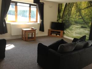 A seating area at Forest View Holiday Park