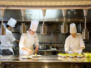 Staff members at JR Tower Hotel Nikko Sapporo