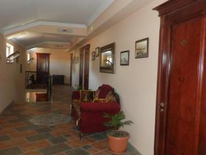 The lobby or reception area at Hotel Ritsa