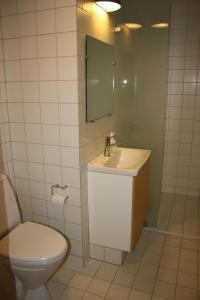 Et badeværelse på Løgumkloster Refugium