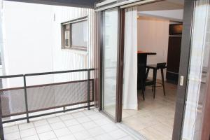 A balcony or terrace at Hotel Astoria