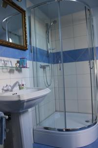 Ein Badezimmer in der Unterkunft Alb-Stube