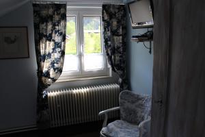 Ein Sitzbereich in der Unterkunft Alb-Stube