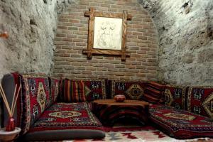 Ein Sitzbereich in der Unterkunft Divalis Hotel