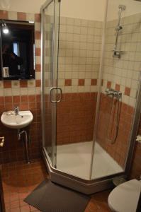 A bathroom at Prie Žeimenos
