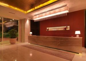 The lobby or reception area at Hotel Royal Orchid, Jaipur