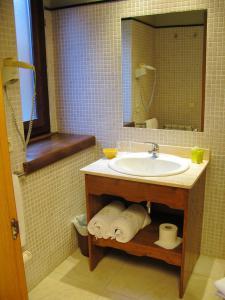 A bathroom at Peira Blanca Hotel Gastronómico