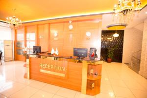 The lobby or reception area at Resmina Hotel