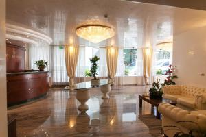 The lobby or reception area at Hotel Ambassador