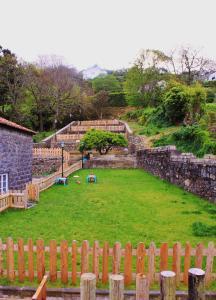 A garden outside Casa do Vale do Sossego