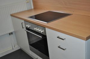 Küche/Küchenzeile in der Unterkunft Gästedorf Waldheimat