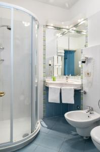 Koupelna v ubytování Hotel San Michele